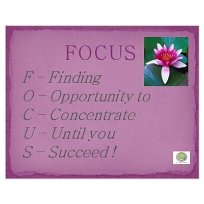 Finding My Focus Poster