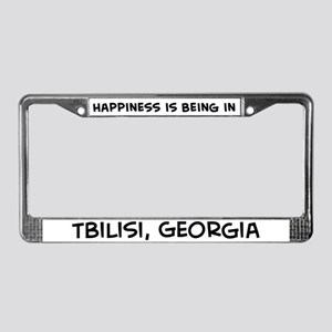 Happiness is Tbilisi License Plate Frame