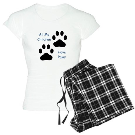 All My Children Have Paws 1 Women's Light Pajamas