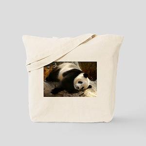 Tai Shan Resting on Log Tote Bag