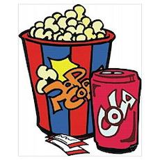 Popcorn & Soda Poster