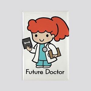 Future Doctor - girl Rectangle Magnet
