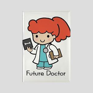 Future Doctor - girl Rectangle Magnet