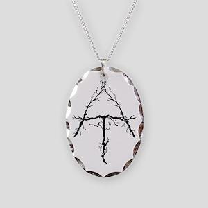 Appalachian Trail Twigs Necklace Oval Charm