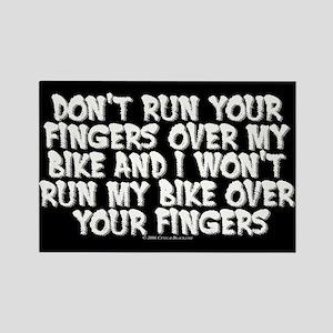 Fingers on Bike Rectangle Magnet