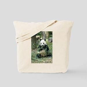 Panda Eating Tote Bag