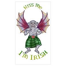 Kiss Me I'm Irish Monkey Poster