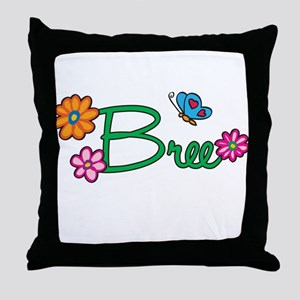 Bree Flowers Throw Pillow