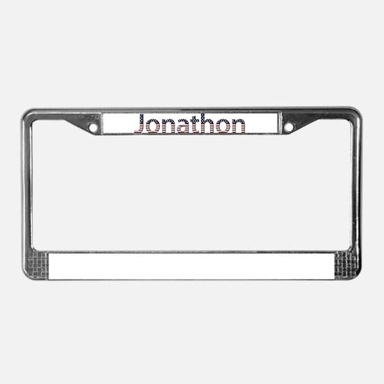 Jonathon Stars and Stripes License Plate Frame