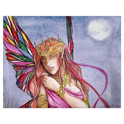 Moonlight fairy detail Poster