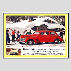 Classic Car Ads Wall Art CafePress - Classic car ads