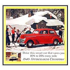 """1940 Studebaker Ad"" Poster"