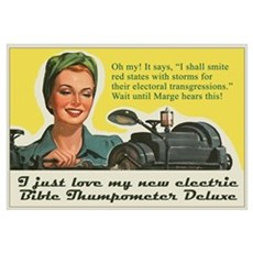 Bible Thumpometer - Hurricane Poster