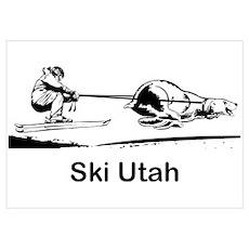 Ski Utah Poster