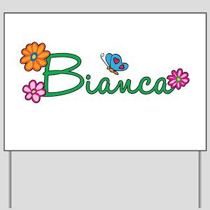 Bianca Flowers Yard Sign