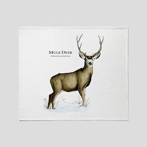 Mule Deer Throw Blanket