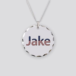 Jake Stars and Stripes Necklace Circle Charm