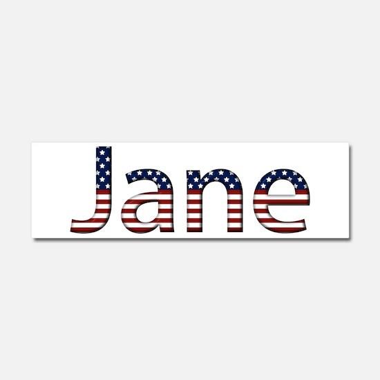 Jane Stars and Stripes 10x3 Car Magnet