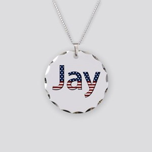 Jay Stars and Stripes Necklace Circle Charm