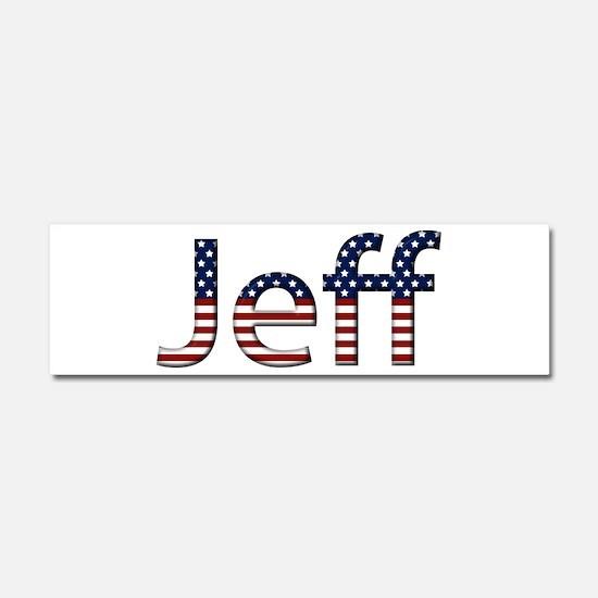 Jeff Stars and Stripes 10x3 Car Magnet