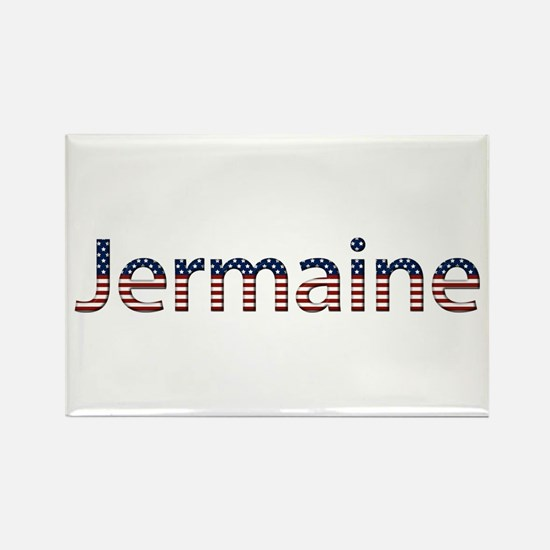 Jermaine Stars and Stripes Rectangle Magnet