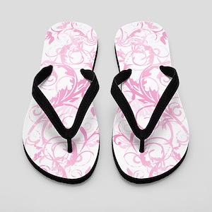 Pink Love Swirls Flip Flops