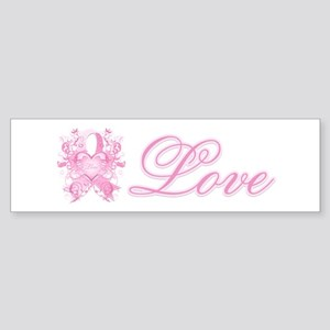 Pink Love Swirls Sticker (Bumper)