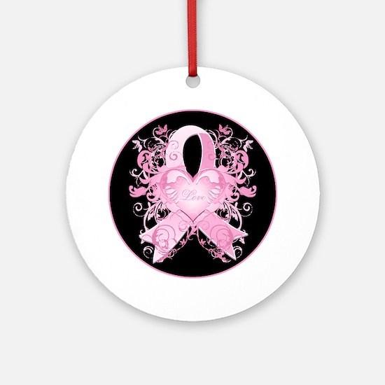 Pink Love Swirls Ornament (Round)