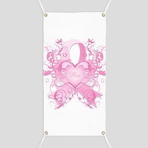 Pink Love Swirls Banner