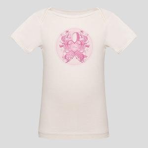 Pink Love Swirls Organic Baby T-Shirt