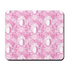 Pink Love Swirls Mousepad