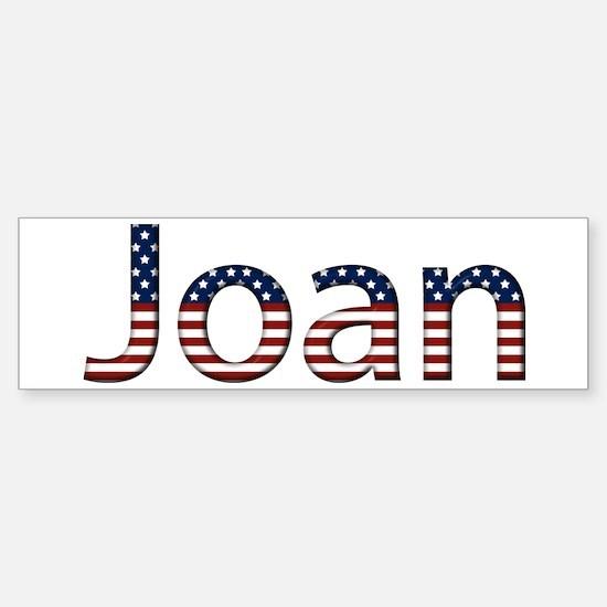 Joan Stars and Stripes Bumper Bumper Bumper Sticker