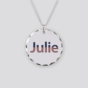 Julie Stars and Stripes Necklace Circle Charm