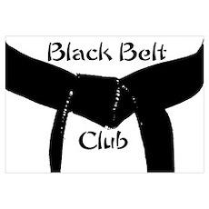 Martial Arts Black Belt Club Poster