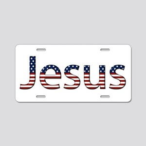 Jesus Stars and Stripes Aluminum License Plate