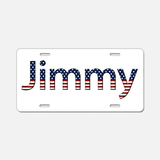 Jimmy Stars and Stripes Aluminum License Plate
