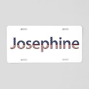 Josephine Stars and Stripes Aluminum License Plate