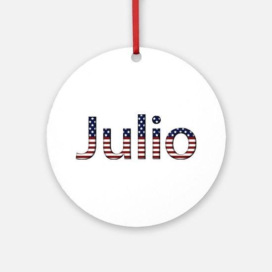 Julio Stars and Stripes Round Ornament