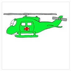 UH-1 Green Poster