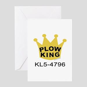 Plow King Greeting Card