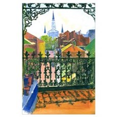 French Quarter Street Print Poster
