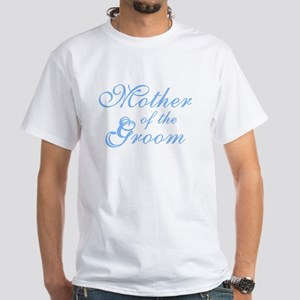 Sheer Elegance Blue Mother Groom White T-Shirt