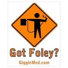 Foley Flagger Sign Poster