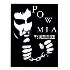 POW/MIA WITH CHAINS Poster