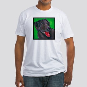"Chocolate Lab ""Brownie"" Fitted T-Shirt"