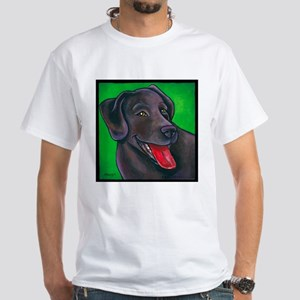 "Chocolate Lab ""Brownie"" White T-Shirt"