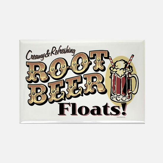 Root Beer Floats Rectangle Magnet