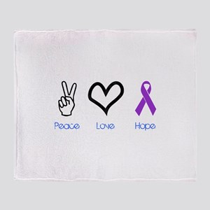 Peace Love Hope Throw Blanket
