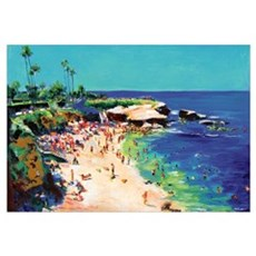 La Jolla Cove Picture Canvas Art