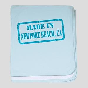 MADE IN NEWPORT BEACH, CA baby blanket